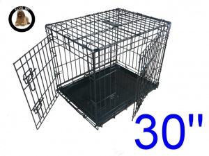 30 Inch Ellie-Bo Standard Medium Dog Cage in Black