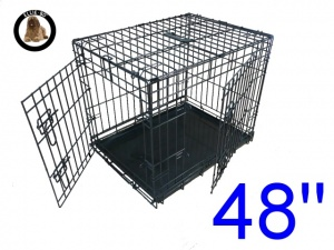 48 Inch Ellie-Bo Standard XXL Dog Cage in Black