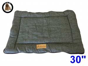 Ellie-Bo Medium Duo Reversible Tweed and Grey Faux Fur Cage Mat to fit Ellie-Bo 30 inch Dog Cage
