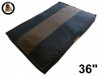 Ellie-Bo Large Striped Black & Brown Dog Bed to fit 36 inch Dog Cage