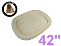 Ellie-Bo Faux Sheepskin Fleece Bed for a 42'' Dog Cage