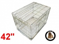 42 Inch Ellie-Bo Deluxe XL Dog Cage in Gold