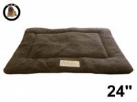 Ellie-Bo Brown Sherpa Fleece Cage Mat to fit Ellie-Bo 24 inch Dog Cage