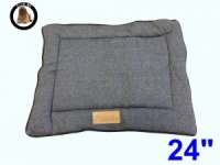 Ellie-Bo Small Duo Reversible Tweed and Grey Faux Fur Cage Mat to fit Ellie-Bo 24 inch Dog Cage
