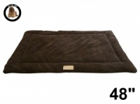 Ellie-Bo Brown Sherpa Fleece Cage Mat to fit Ellie-Bo 48 inch Dog Cage