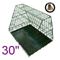 30 Inch Ellie-Bo Standard Slanted Medium Dog Cage in Black