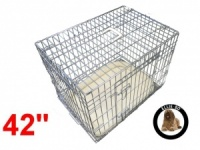 42 Inch Ellie-Bo Deluxe XL Dog Cage in Silver