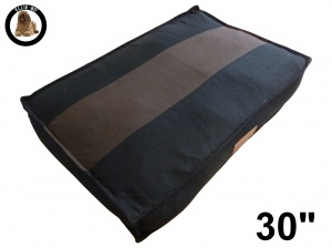Ellie-Bo Medium Striped Black & Brown Dog Bed to fit 30 inch Dog Cage
