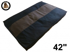 Ellie-Bo Extra Large Striped Black & Brown Dog Bed to fit 42 inch Dog Cage