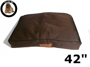 Ellie-Bo Extra Large Brown Waterproof Dog Bed to fit 42 inch Dog Cage