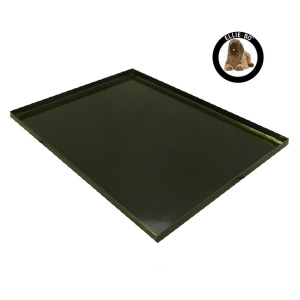 Ellie-Bo Replacement Black Metal Tray for a 30'' Dog Cage