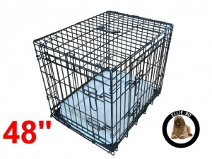 48 Inch Ellie-Bo Deluxe XXL Dog Cage in Black