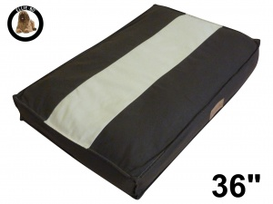 Ellie-Bo Large Striped Brown & Cream Dog Bed to fit 36 inch Dog Cage