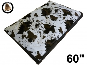 Ellie-Bo Jumbo 60 inch Cowhide Pattern Dog Bed