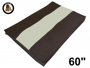 Ellie-Bo Jumbo 60 inch Striped Brown and Cream Dog Bed