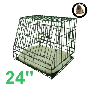 24 Inch Ellie-Bo Deluxe Slanted Small Dog Cage in Black