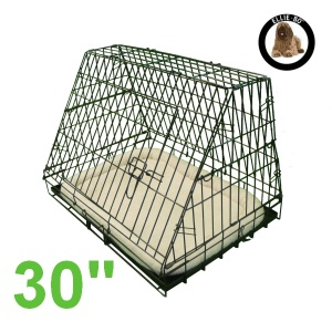 30 Inch Ellie-Bo Deluxe Slanted Medium Dog Cage in Black