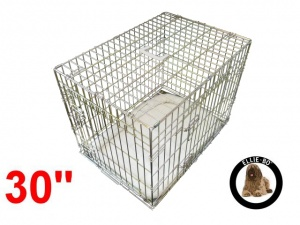 30 Inch Ellie-Bo Deluxe Medium Dog Cage in Gold