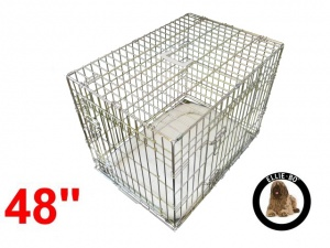 48 Inch Ellie-Bo Deluxe XXL Dog Cage in Gold