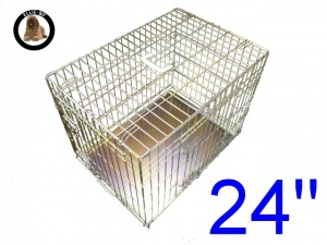 24 Inch Ellie-Bo Standard Small Dog Cage in Gold