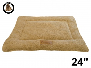 Ellie-Bo Beige Sherpa Fleece Cage Mat to fit Ellie-Bo 24 inch Dog Cage