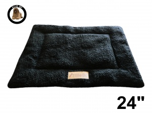 Ellie-Bo Black Sherpa Fleece Cage Mat to fit Ellie-Bo 24 inch Dog Cage