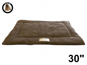 Ellie-Bo Brown Sherpa Fleece Cage Mat to fit Ellie-Bo 30 inch Dog Cage