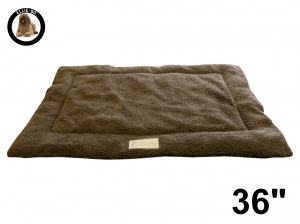Ellie-Bo Brown Sherpa Fleece Cage Mat to fit Ellie-Bo 36 inch Dog Cage