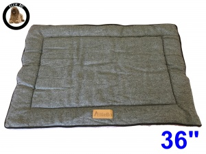 Ellie-Bo Large Duo Reversible Tweed and Grey Faux Fur Cage Mat to fit Ellie-Bo 36 inch Dog Cage