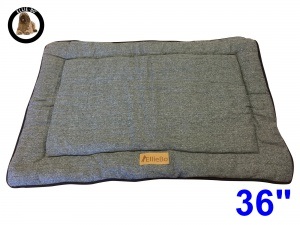 Ellie-Bo Large Duo Reversible Tweed and Black Faux Fur Cage Mat to fit Ellie-Bo 36 inch Dog Cage