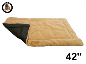 Ellie-Bo Beige Sherpa Fleece Cage Mat to fit Ellie-Bo 42 inch Dog Cage