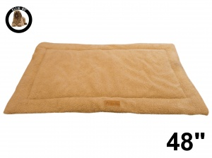 Ellie-Bo Beige Sherpa Fleece Cage Mat to fit Ellie-Bo 48 inch Dog Cage