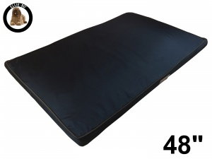 Ellie-Bo XXL Black Memory Foam Waterproof Dog Bed to fit 48 inch Dog Cage