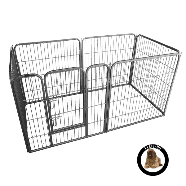 Ellie bo heavy duty 6 piece puppy pen 80cm high only dog for Huge dog pen