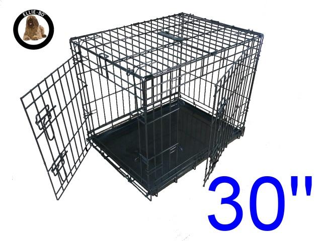30 Inch Ellie Bo Standard Medium Dog Cage In Black Only