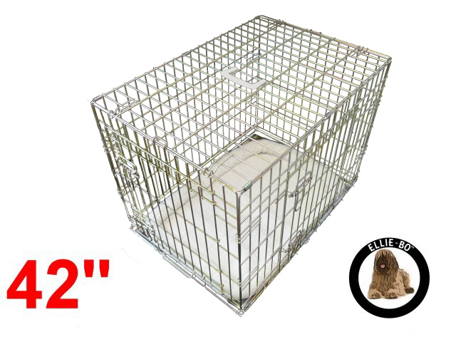 42 inch elliebo deluxe xl dog cage in gold