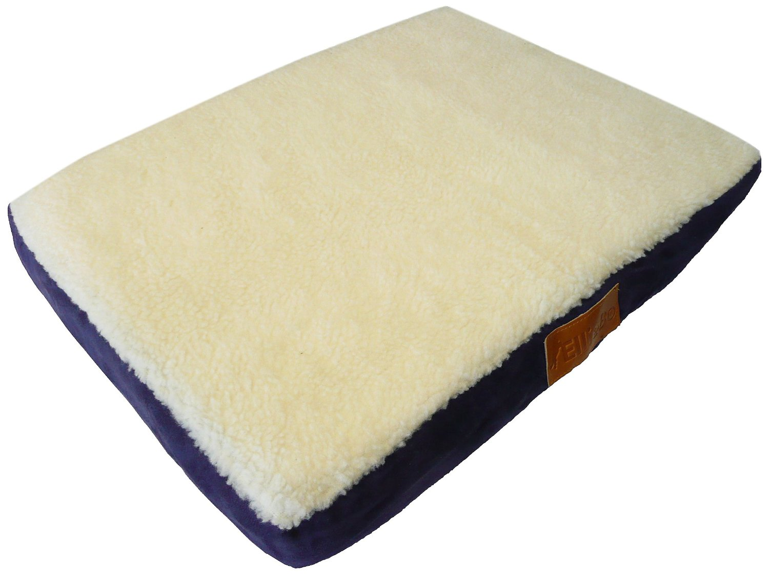 ellie-bo xxl blue memory foam dog bed with faux suede and
