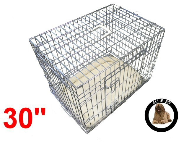30 Inch Ellie Bo Deluxe Medium Dog Cage In Silver Only