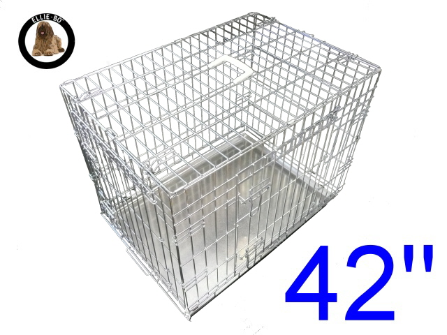 42 inch elliebo standard xl dog cage in silver