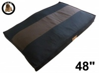 Ellie-Bo XXL Striped Black & Brown Dog Bed to fit 48 inch Dog Cage