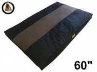 Ellie-Bo Jumbo 60 inch Striped Black and Brown Dog Bed