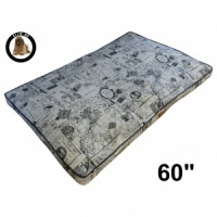 Ellie-Bo Jumbo 60 inch Beige Dog Bed in Voyager Style