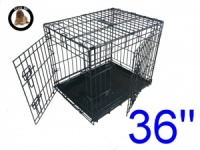 36 Inch Ellie-Bo Large Dog Cage in Black