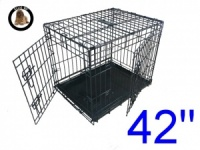 42 Inch Ellie-Bo Standard XL Dog Cage in Black