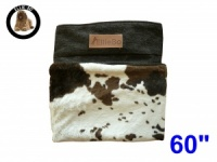 Ellie-Bo Jumbo 60 inch Replacement Dog Bed Cover with Brown Cowhide Design