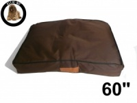 Ellie-Bo Jumbo 60 inch Brown Waterproof Dog Bed