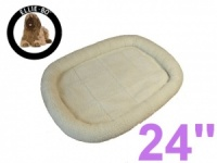 Ellie-Bo Faux Sheepskin Fleece Bed for a 24'' Dog Cage