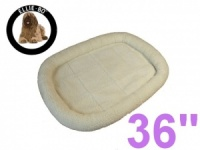 Ellie-Bo Faux Sheepskin Fleece Bed for a 36'' Dog Cage
