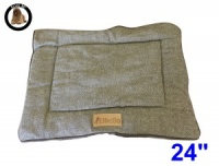 Ellie-Bo Small Duo Reversible Tweed and Brown Faux Fur Cage Mat to fit Ellie-Bo 24 inch Dog Cage