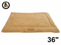 Ellie-Bo Beige Sherpa Fleece Cage Mat to fit Ellie-Bo 36 inch Dog Cage